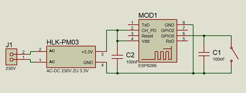 MQTT Taster, WLAN Schalter für SmartHome selber bauen, mit Schaltplan