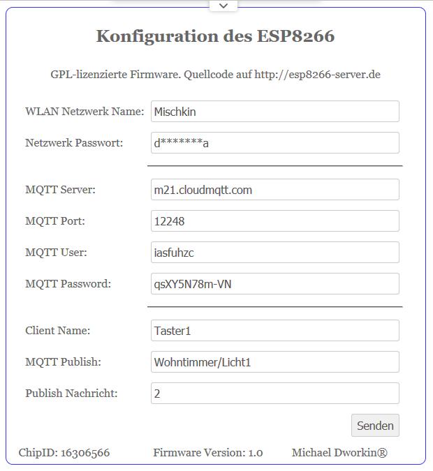 MQTT Taster, WLAN Schalter für IoT selber bauen, mit Schaltplan