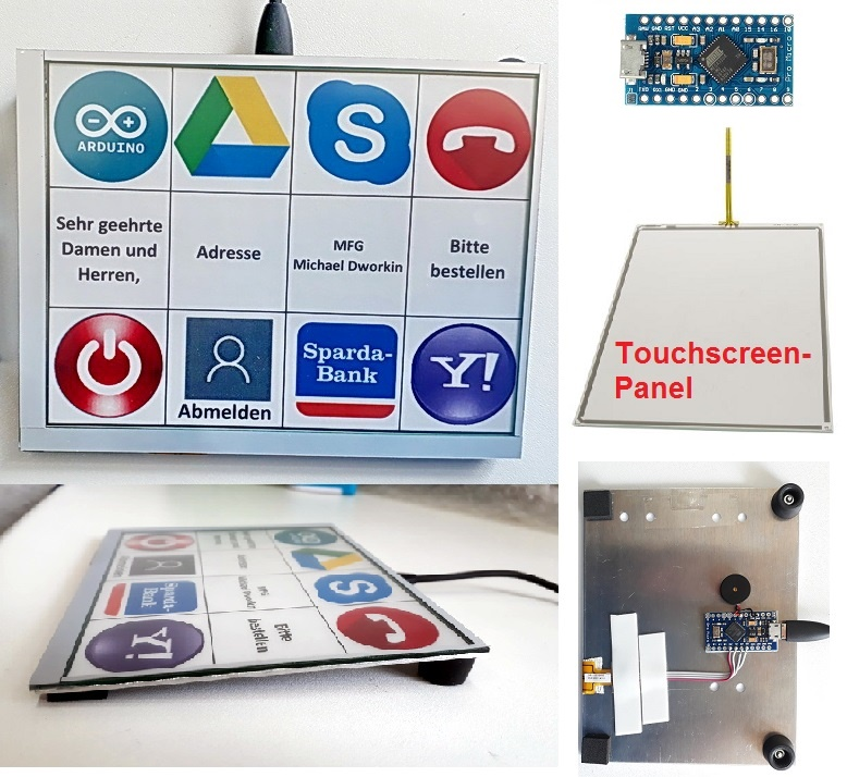 Arduino USB Macro Keyboard aus Touchscreen Panel DIY